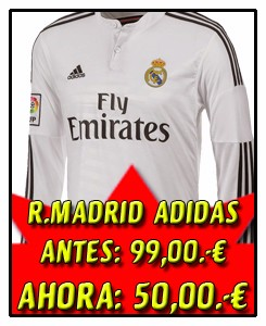 CAMISETA 1º EQUIPACIÓN MANGA LARGA REAL MADRID