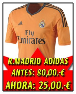 REAL MADRID CAMISETA NARANJA 2013-14