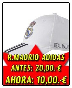 GORRA REAL MADRID BLANCA