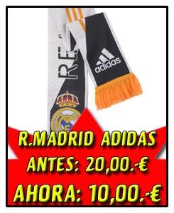 BUFANDA REAL MADRID NEGRA-BLANCA