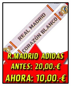 BUFANDA REAL MADRID BLANCA