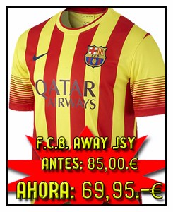 FC BARCELONA AWAY JSY 2013-14