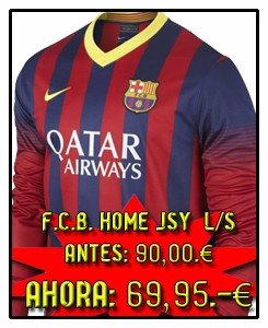 FC BARCELONA HOME LONG SLEEVE JSY 2013-14