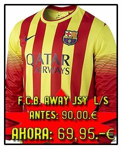 FC BARCELONA AWAY L/S JSY 2013-14
