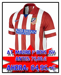 ATLÉTICO MADRID BOYS HOME JSY 2013-14