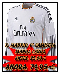 REAL MADRID ADIDAS HOME JSY LONG SLEEVE 2013-14