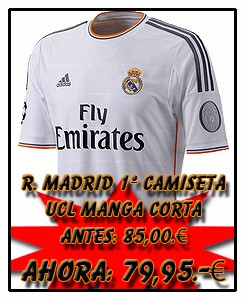 REAL MADRID ADIDAS HOME CHAMPIONS LEAGUE JSY 2013-14