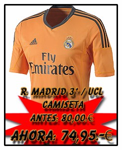 REAL MADRID ADIDAS AWAY CHAMPIONS LEAGUE JSY 2013-14