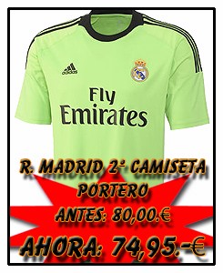 REAL MADRID ADIDAS AWAY GK JSY 2013-14