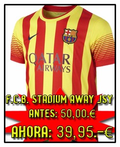 FC BARCELONA AWAY STADIUM JSY 2013-14